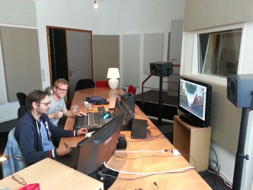 audio post production at the Soundpost with Martijn and Alexander