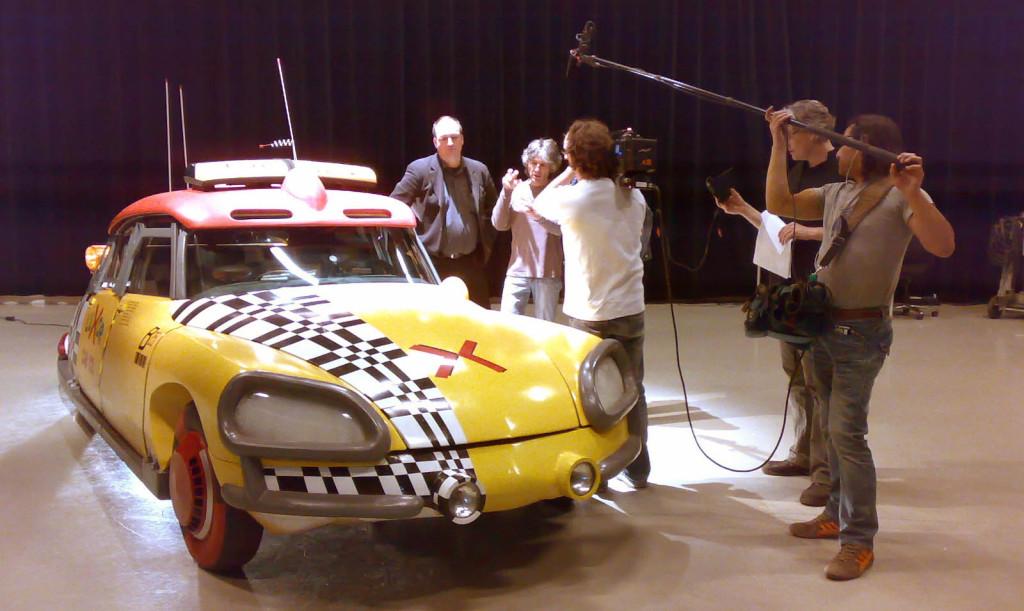 Michael Scheffe being interviewed