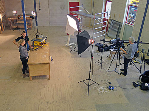 On the set of BouwTotaal's Tools & Equipment